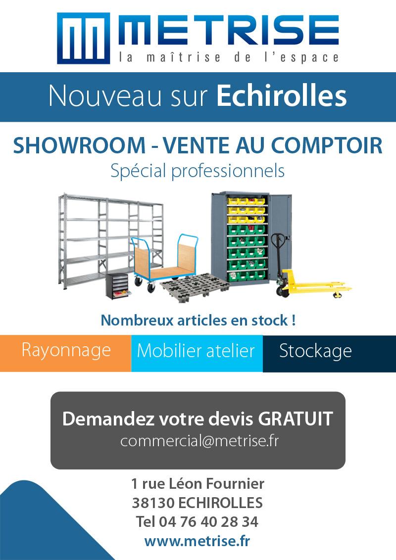 showroom metrise rayonnage